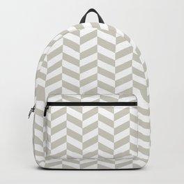 Wolf Gray Herringbone Pattern Backpack
