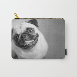 "Pug Print ""Treat Induced Happiness"" Carry-All Pouch"