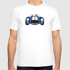 Shelby Cobra White Mens Fitted Tee MEDIUM