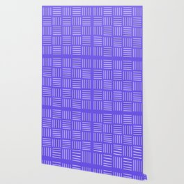 Abstract geometric pattern - blue and white. Wallpaper
