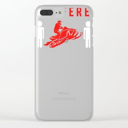 snowmobile be different t-shirt for merry christmas Clear iPhone Case