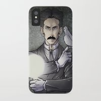 tesla iPhone & iPod Cases featuring Tesla by Isara