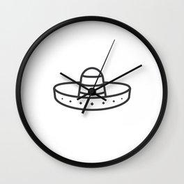 Sombrero Wall Clock