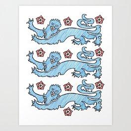 3 Lions Art Print