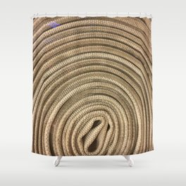 Circular Waves. Fashion Textures Shower Curtain