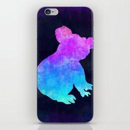 KOALA IN SPACE // Animal Graphic Art // Watercolor Canvas Painting // Modern Minimal Cute iPhone Skin