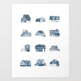 Houses of Lupus, Missouri Art Print