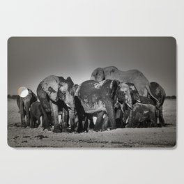 Elephant Herd Circling Cutting Board