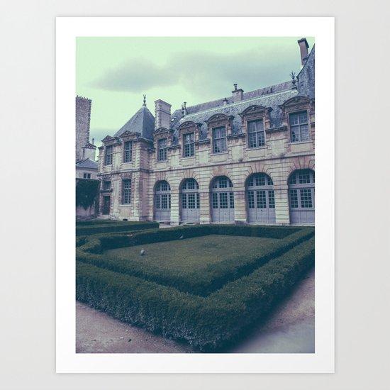 French Garden Maze III Art Print