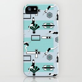 Art Deco Swimmers iPhone Case