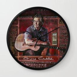 Guy Clark Wall Clock