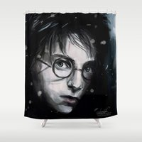 harry Shower Curtains featuring Harry by LucioL