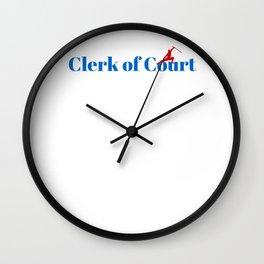 Top Clerk of Court Wall Clock