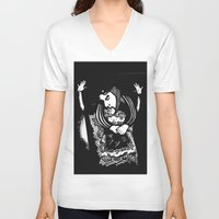 che V-neck T-shirts featuring Che by Chuchuligoff