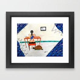 I am water (woman) Framed Art Print
