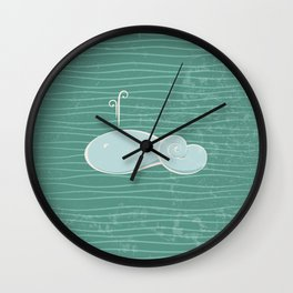 whale in the waves Wall Clock