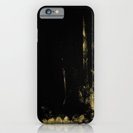 Black and Gold grunge modern abstract background I iPhone Case