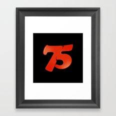 75 Framed Art Print