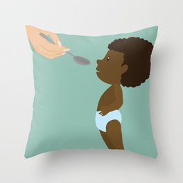 A man true wealth is the good he does in this world Throw Pillow