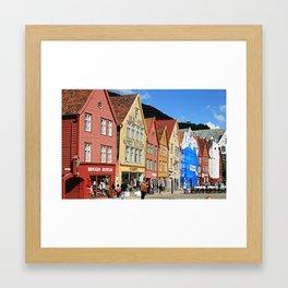 Bryggen Framed Art Print
