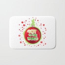 Soy to the World Bath Mat