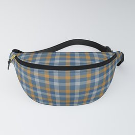 Blue and Yellow checked pattern Fanny Pack