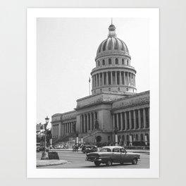 Capitolio Havana (Cuba) Art Print