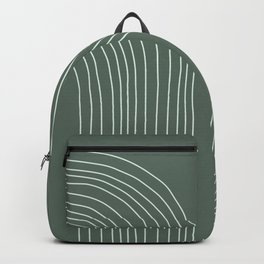 Hand drawn Geometric Lines in Forest Green 3 Backpack