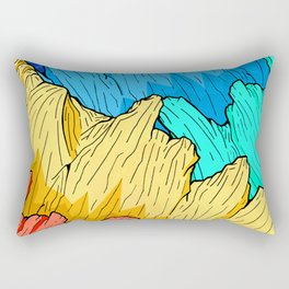 Rainbow Mounts Rectangular Pillow