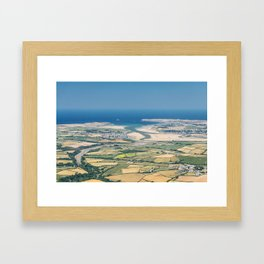 Aerial Views over North Cornwall - Padstow and Rock Framed Art Print