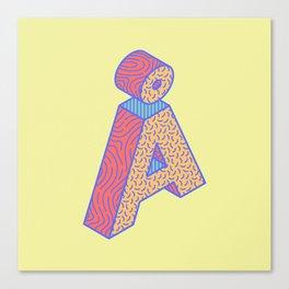 Typography series #Å Canvas Print