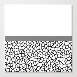 staklo (gray stripe) Canvas Print