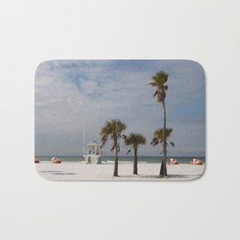 Clearwater Beach In Wintertime Bath Mat