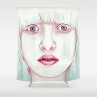 jem Shower Curtains featuring GIRL by Laura O'Connor