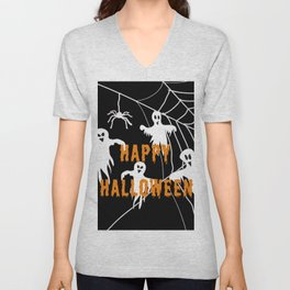 Monsters Happy Halloween Unisex V-Neck