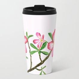 red flower adenium plant Travel Mug