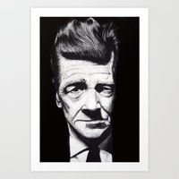 david lynch Art Prints featuring David Lynch by Black Neon