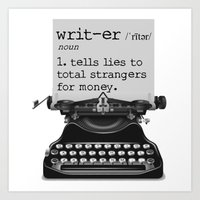 writer Art Prints featuring Writer Defined by Nicole Austin
