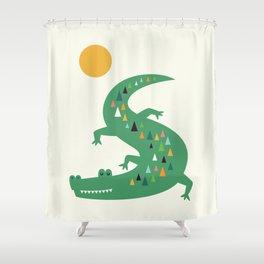 Sunbathing Shower Curtain