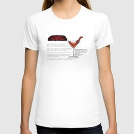 The Ron Swanson Cocktail Recipe T-shirt