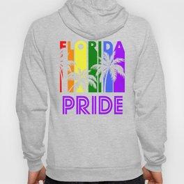 Florida Pride Gay Pride LGBTQ Rainbow Palm Trees Hoody