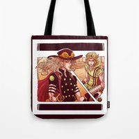 jjba Tote Bags featuring what did you just do to me? by vvisti