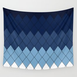 Blue rombs Wall Tapestry