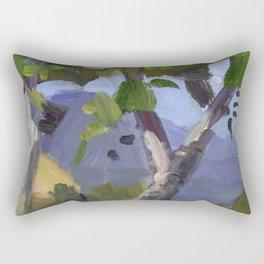BETTE DAVIS PARK, plein air landscape by Frank-Joseph Paints Rectangular Pillow