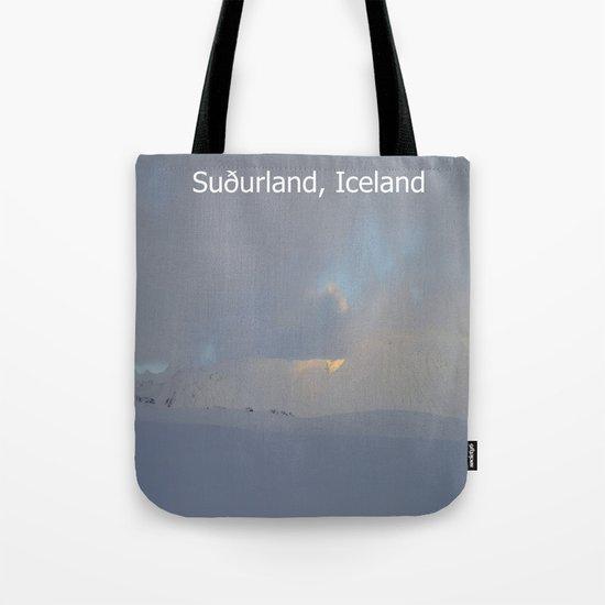 Winter landscape of Suðurland, Iceland Tote Bag