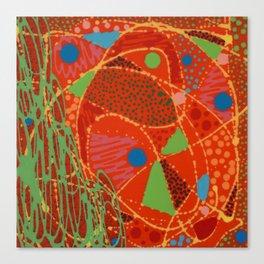 Untitled, abstract orange Canvas Print