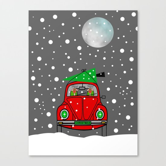 Santa Lane Canvas Print