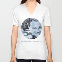 great gatsby V-neck T-shirts featuring Great Gatsby by Instrum