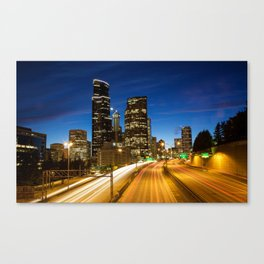 Amazing Seattle Night Canvas Print