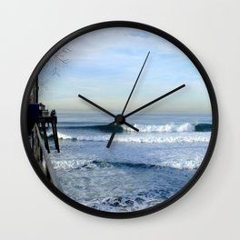 Christmas Swell With Jaggy Edges Wall Clock